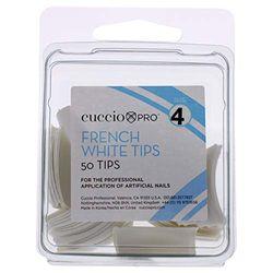 Cuccio French Manicure 50tlg weiß Tipps, Gr. 4