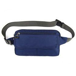 Ultraslim Nylon Wasserdicht Stealth Klein Casual Reise Hüfttasche Packs Navy Blau