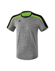 ERIMA Kinder T-shirt T-Shirt, grau melange/schwarz/green gecko, 128, 1081827