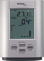 Regenmessgerät WS 9006 mit Innen- sowie Außentemperatur, aktuelle Regenmenge und Regenmengenhistorie