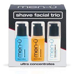 men-u Gifts for men Shave Face Trio Herrenpflege-Set, ultra-Konzentrat Rasiercreme, gesunde Gesichtswäsche & Gesichtspflege Lift 100 ml Tolles Gesicht jedes Mal, wenn Sie rasieren
