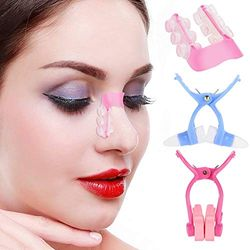 Nannday Nasenheber, Nasenmassagegerät Clip + Straightening Beauty Clip + Nose Up Clip Korrektur Set