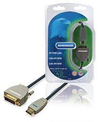 Bandridge BVL1105 - videokabel-adapter (5 m, HDMI, nikkel, zwart, grijs, mannelijk/mannelijk)