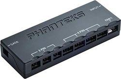 Phanteks Controlador de Ventilador Universal, PH-PWHUB_02 – Diseño de Perfil bajo, Controlador de Ventilador Universal, Carcasa magnética, Tres Modos de Velocidad con Mando a Distancia