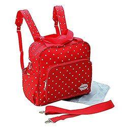 gmmhl 2 piezas Baby Mochila Bolso cambiador Bolsa de bolsa para pañales Baby funda viaje Selección de Colores (Rojo)