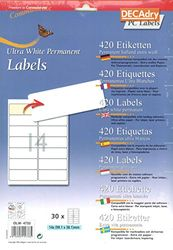 DECAdry OLW-4733 etiketten, wit