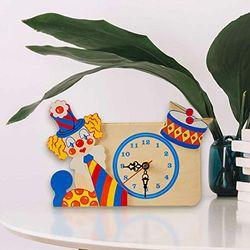Dida tafelklok clown trommel voor kinderkamer, 150 g