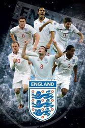 1art1 49283 voetbal - Engeland F.A, sterren poster 91 x 61 cm