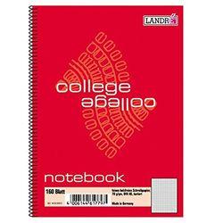 """LANDRÉ 100050631 Notebook""""college"""" DIN A6, 160 bladen, geruit"""