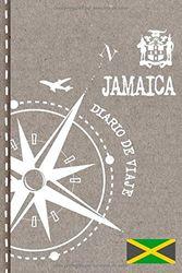 Jamaica Diario de Viaje: Libro de Registro de Viajes - Cuaderno de Recuerdos de Actividades en Vacaciones para Escribir, Dibujar - Cuadrícula de Puntos, Bucket List, Dotted Notebook Journal A5