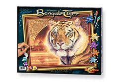 Schipper 609130454 Schilderen op cijfers, India Bengal Tiger afbeeldingen schilderen voor volwassenen, inclusief penseel en acrylverf, 40 x 50 cm