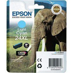EPSON 24XL Tinte hell cyan hohe Kapazität 9.8ml 740 Seiten 1-pack blister ohne Alarm