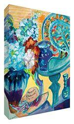 Feel Good Art, Summer Collect ION128 15De Art Colourful door British Artist Folding Screen, Val Johnson en Abstract Flower Vaas 30 x 20 x 4 cm, Small