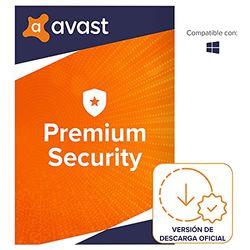 Avast Premium Security - Protección antivirus   1 Dispositivo   1 Año   PC/Mac   Código de activación enviado por email