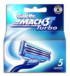 Gillette Mach3 Turbo 80201239 messen, 5 stuks