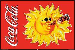 empireposter - Coca Cola - Vintage Sun - Grootte (cm), ca. 91,5x61 - Poster, NIEUW