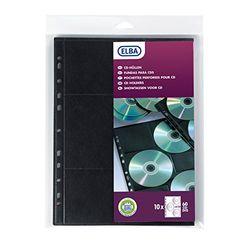 Elba Hüllen für 10 CDs/DVDs, Polypropylen, A4 6 CD par pochette schwarz
