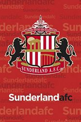 1art1 43444 voetbal - Sunderland, wapenposter 91 x 61 cm