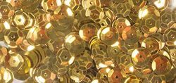 Pailletten 6 mm geelgoud