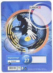 LANDRE 100050488 ringbandinleg A4 50 vellen gelinieerd met dubbele rand 70 g/m² ronde hoeken geperforeerd ringband inleg papier inleg