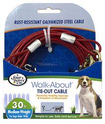 Four Paws Cable de Peso, 9 m, Mediano, Rojo