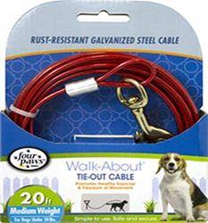 Four Paws Cable de Peso, 20 pies, Mediano, Color Rojo