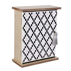THE HOME DECO FACTORY HD2141 - Caja de Madera de Densidad Media, Color Beige y Blanco