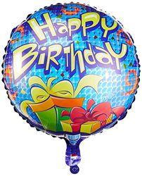 Suki Gifts S9017725 Geburtstagsgeschenk Happy Birthday Folienballon Heliumballon, blau