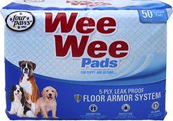FOUR PAWS - Container, Wee Wee Wee Wee Pads für Welpen, 50 Stück