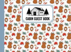 """Cabin Guest Book: Premium Baseball Cover Cabin Guest Book, Welcome to our cabin, 150 pages - 8.25"""" x 6"""" Guest Log Book for Vacation Rental and more ... by Denise Foster"""