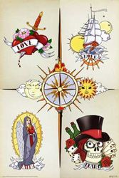 Empire 79602 tattoo - The Circle of Life poster print - 61 x 91,5 cm
