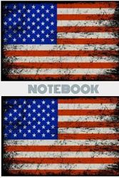 US Flat design blank notebook
