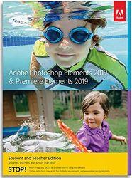 Adobe Photoshop Elements & Premiere Elements 2019 Student & Teacher | 1 Device, 1 Year | Mac | Código de activación Mac enviado por email