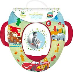 Pixar's Cars Kids Soft Padded Potty Toilet Training Seat With Handles