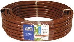 Aqua Control C4387 - Rollo de 25 metros de tubería plana de 16mm. Marrón. Con goteros integrados cada 50 cm.