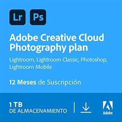 Creative Cloud Photography plan | Standard 1TB | 1 Año | PC/Mac | Código de activación enviado por email