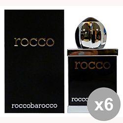 Roccobarocco Black Eau de toilette voor heren, 6 x 300 g