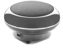 Cabstone SoundDisc Draagbare mini-luidspreker, basbehuizing, 360° klankveld, 4 watt, lithium-ion batterij tot 6 uur, 3,5 mm AUX-In) grijs