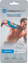 Strengthtape Kinesio Tape Muscle/Calf-Quad, Blue, One Size, 6300-MUS