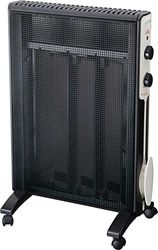 Jata RD225N Micathermic radiator met 3 platen, 1500 W, zwart
