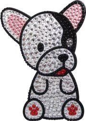 FouFou Dog 92956 RHINESTONE STICKERS French Bulldog cadeau-idee sticker