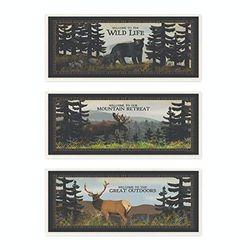 Stupell Industries Wild Life Bär Elch Tierlandschaft Design Schilder und Plaketten, Mehrfarbig