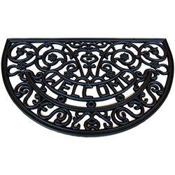 Voetmat met motief, 45 x 75 cm, klassieke stijl, zwart