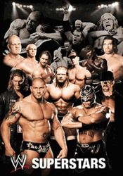 empireposter - Wrestling - WWE - Collage 3D Poster - Grootte (cm), ca. 47x67 - 3D Poster, NIEUW