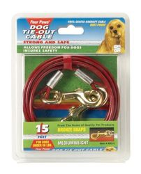 Four Paws Cable de Peso, 4,5 m, Mediano, Color Rojo