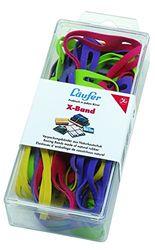 Läufer 59072 Rondella X-Band, elastische Kreuzbänder, Gummibänder 100 x 11 mm, Durchmesser 65 mm, 30g Dose, bunt