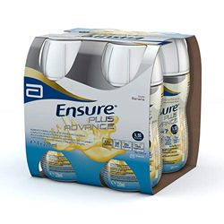 "Ensure Bebida Suplemento Alimenticio ""Plus Advance"", sabor Plátano - 4 Botellas x 220 ml"