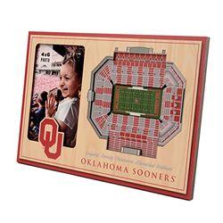 YouTheFan NCAA Oklahoma Sooners 3D StadiumViews Picture Frame