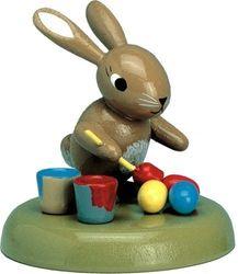 KWO Bunny Schilderij Eieren, 5 cm, Hout Meerkleurig, 30 x 30 x 5 cm