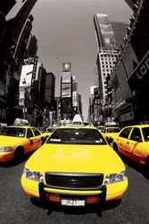 1art1 43497 New York - gele taxen, Nyc poster 91 x 61 cm